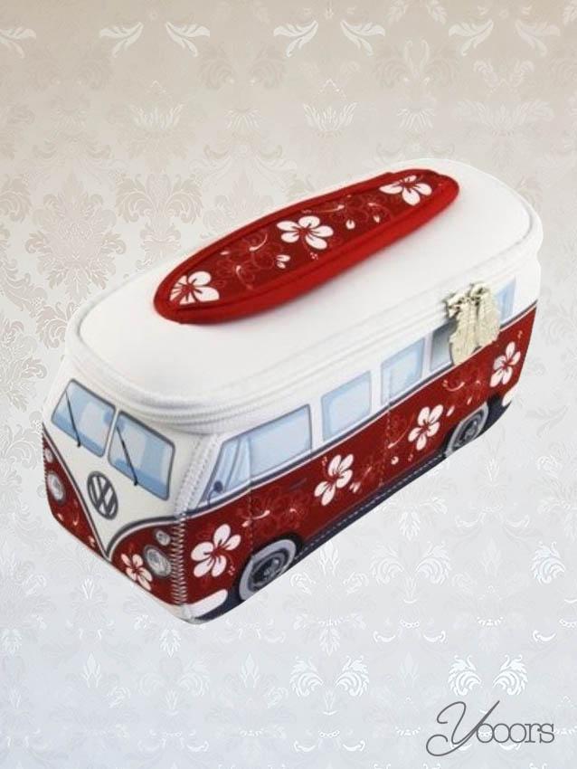 Volkswagen T1 Tas Red Flowers S